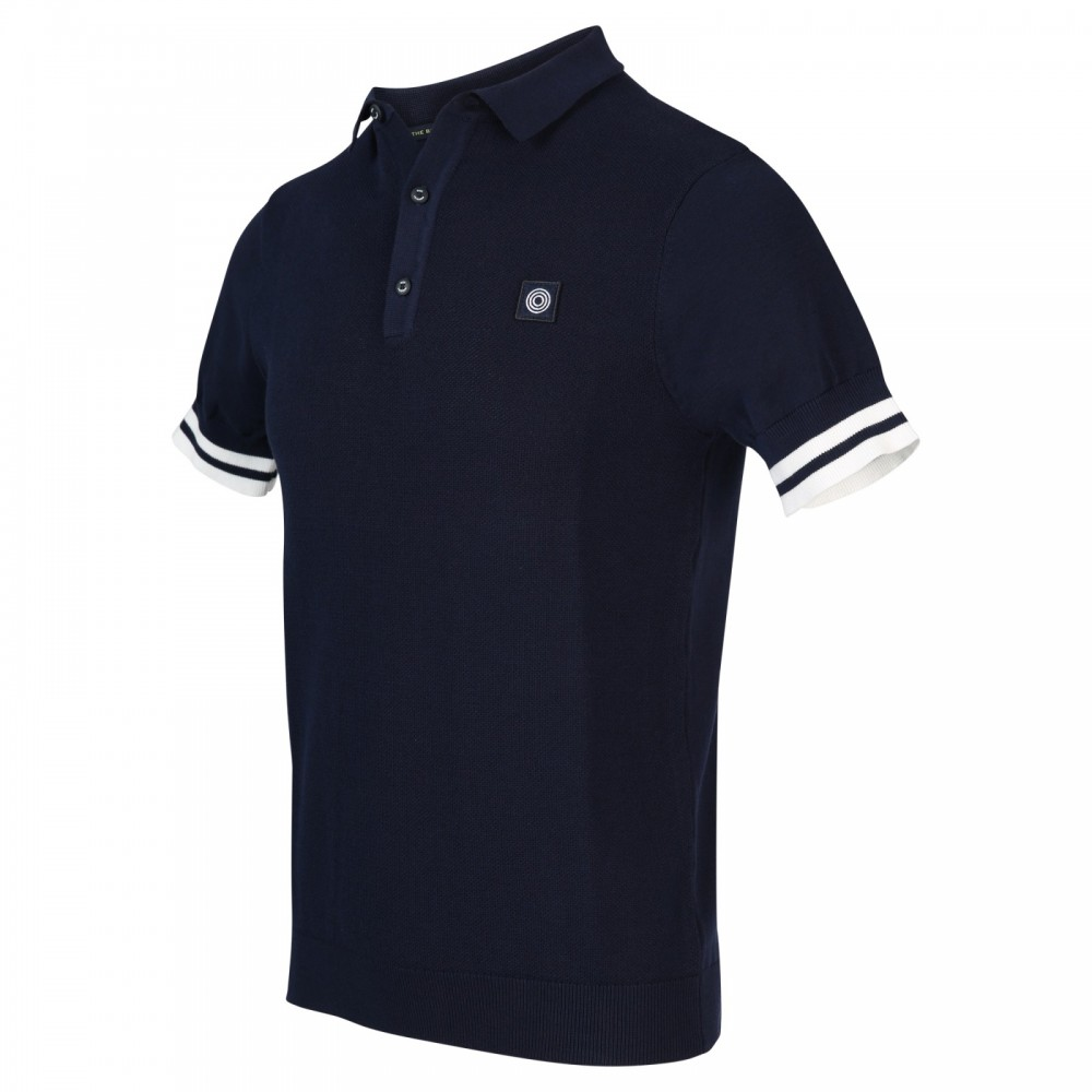 Donkerblauwe heren polo Blue Industry - KBIS20-M9
