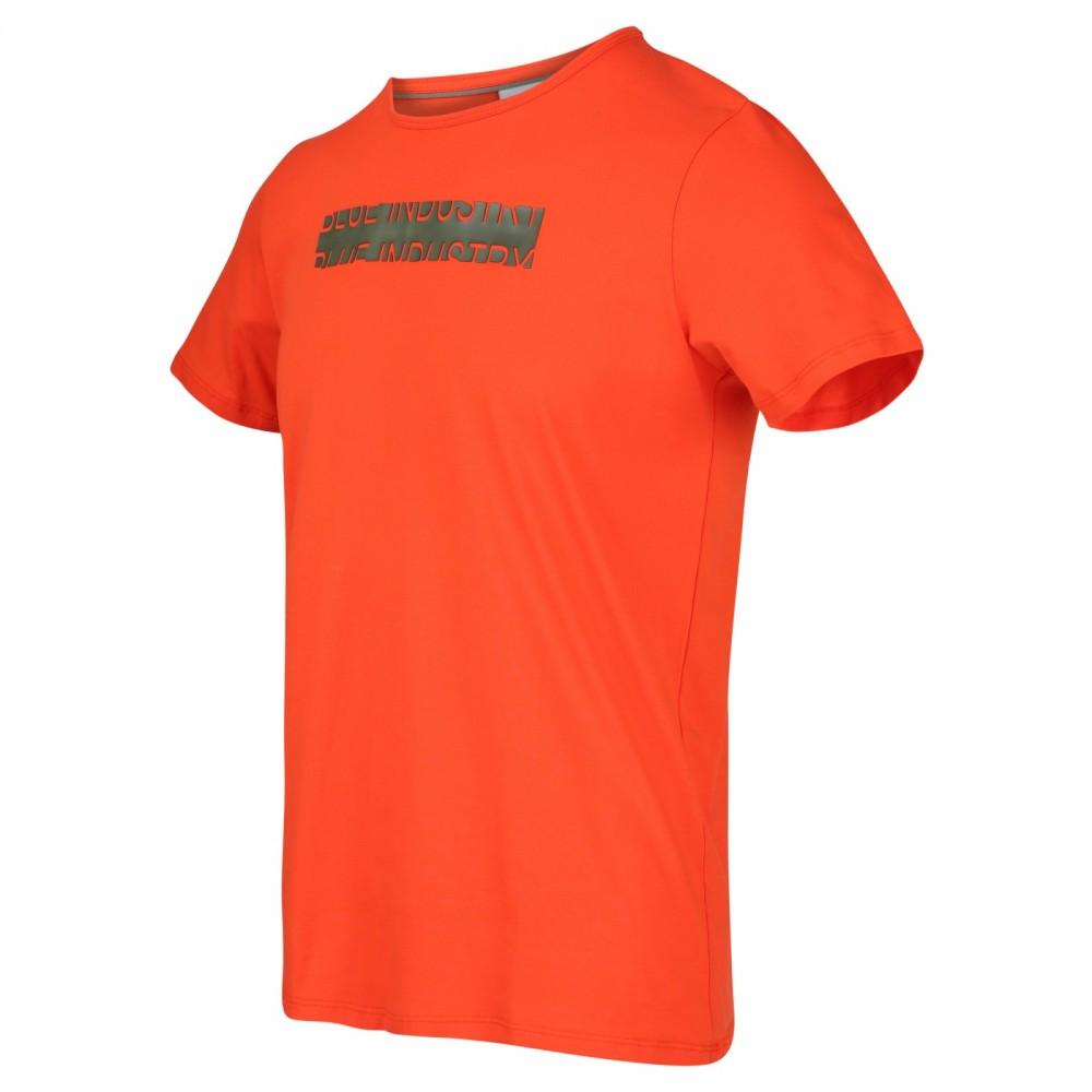 Oranje heren t-shirt Blue Industry - KBIS20-M53