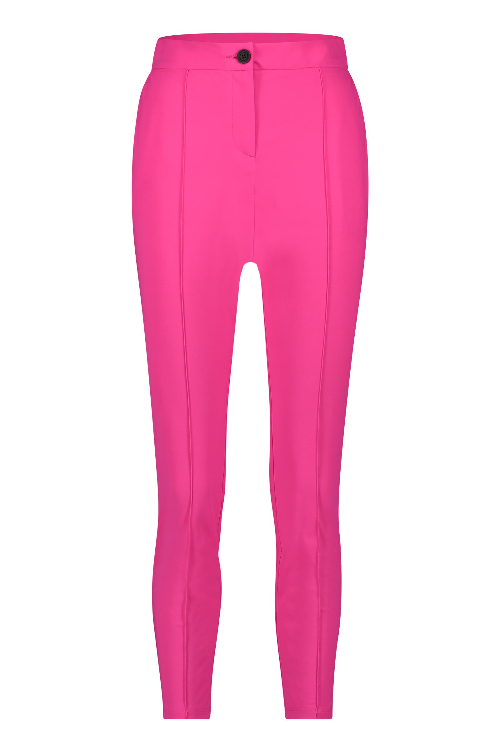 Roze dames broek Penn&Ink - S20N732LTD Shocking pink/black