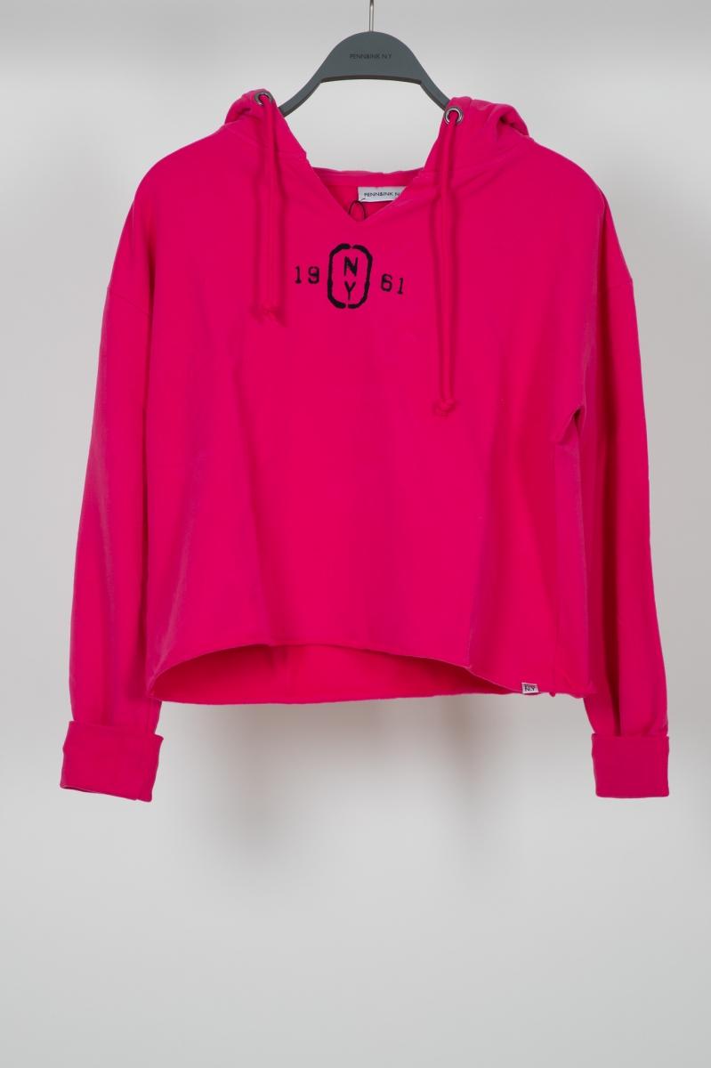 Roze dames trui Penn&Ink - S20F764LTD Shocking pink/black
