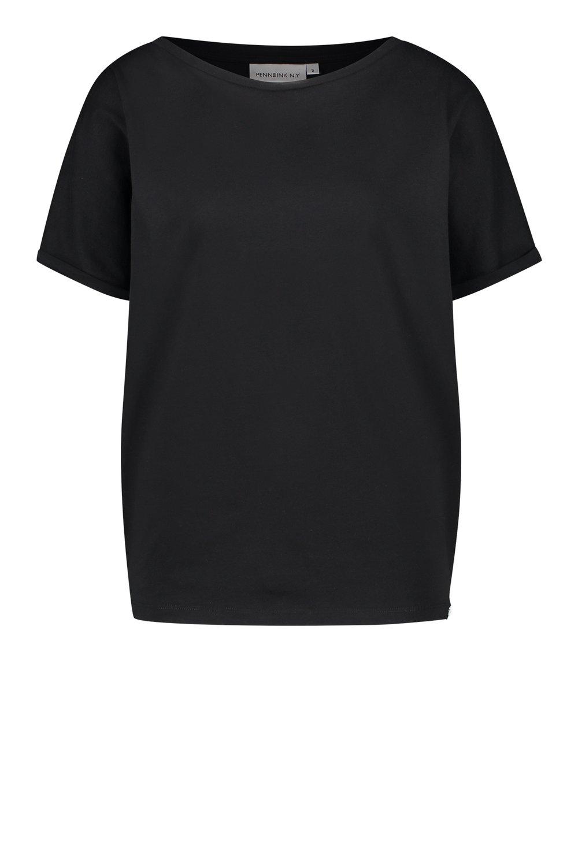 Zwart dames t-shirt met California print Penn&Ink - S20T427ltd