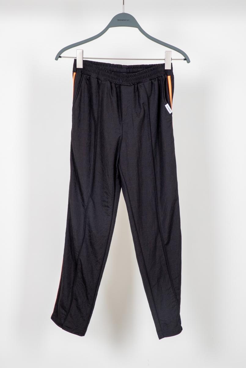 Zwarte dames broek met oranje streep Penn&Ink - S20N745ltd