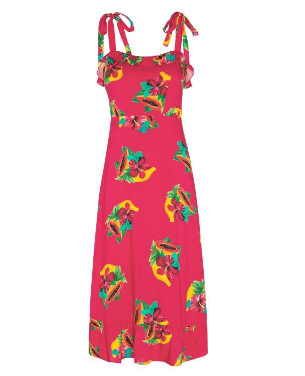 Rood/roze dames jurk Fabienne Chapot - Carmen Tutti frutti red/black