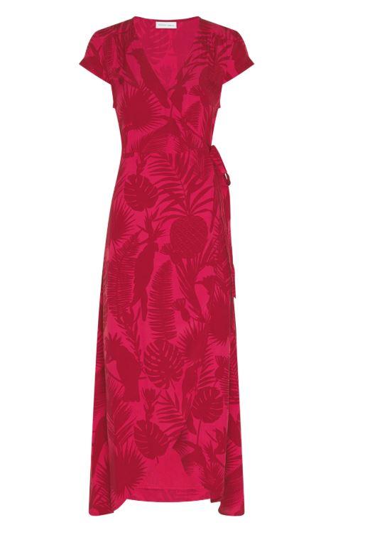 Rood/roze dames jurk Fabienne Chapot - Archana dress frutti red/dustn