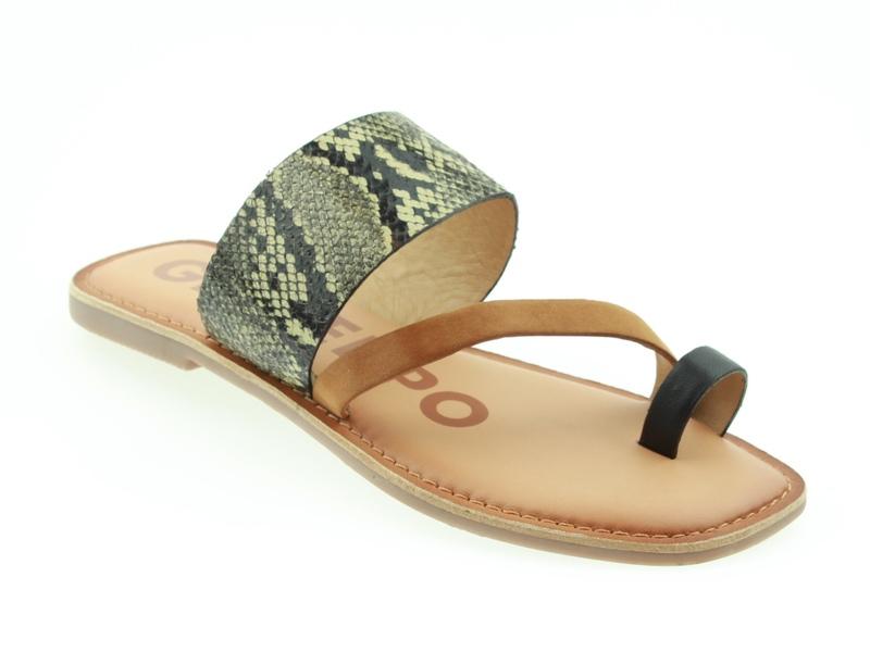Dames slipper met slangenprint Gioseppo - Lucama multicolor