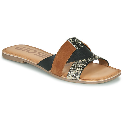 Zwarte dames slippers Gioseppo - Lantana multicolor