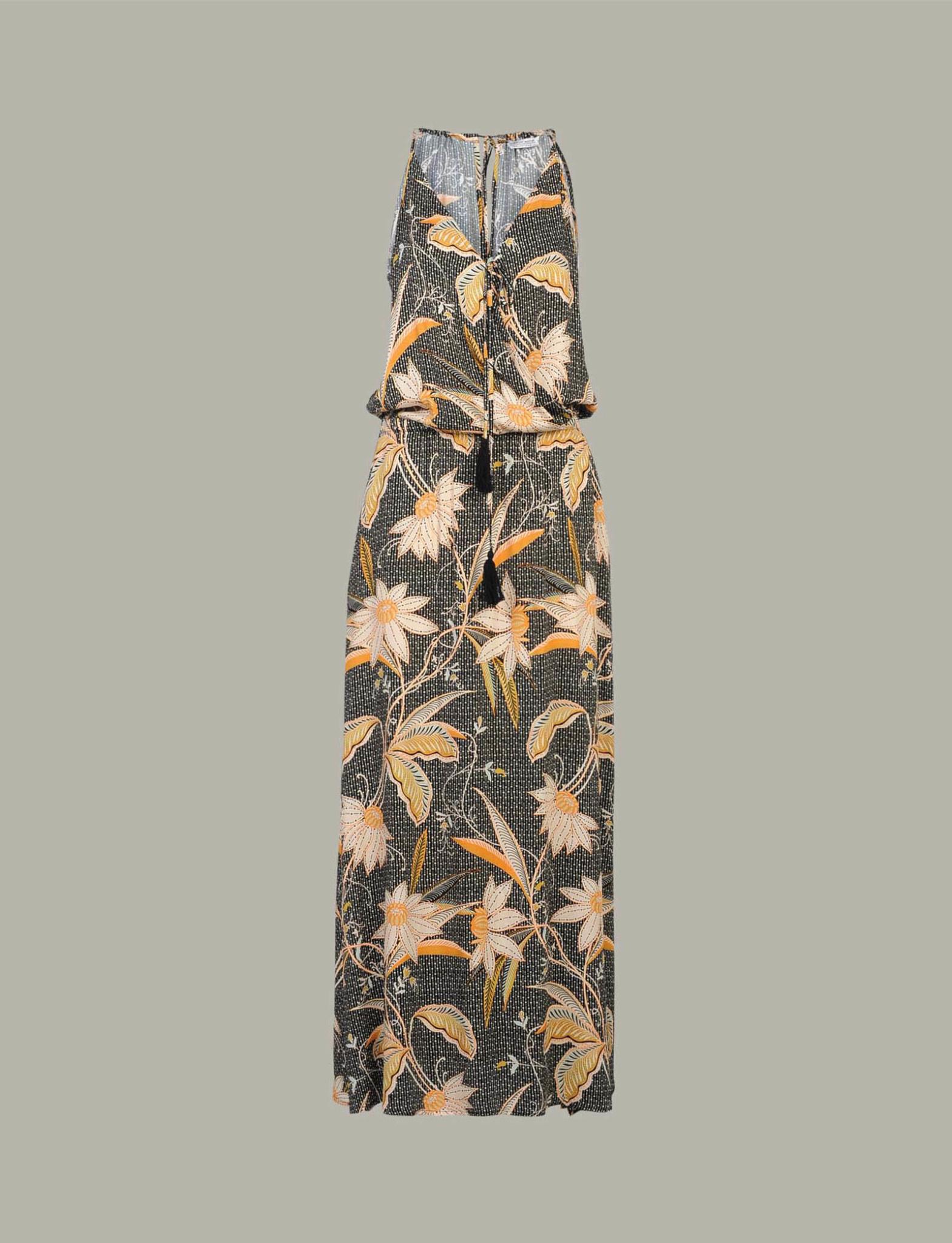 Zwarte dames jurk met print Summum woman - 5s1174 990