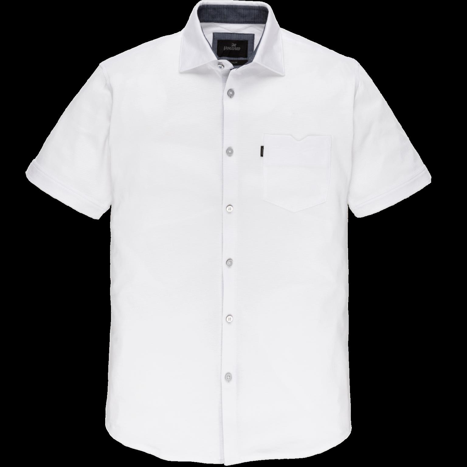 Wit heren overhemd met korte mouw Vanguard - VSIS203250 7003