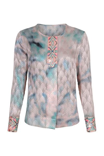 Blauw/Roze dames blouse Gustav - 7291-0-6739