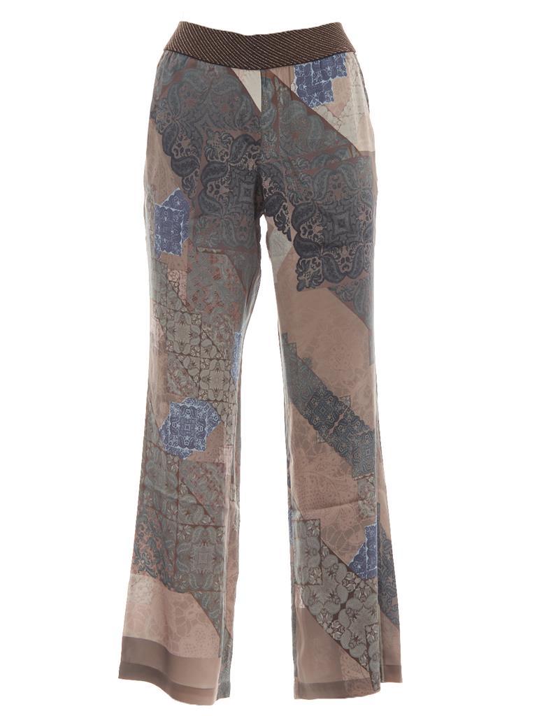Bruine dames broek met Print Gustav - 7292-0-3942