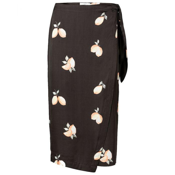 Zwarte dames rok met print YAYA - 140187 943051