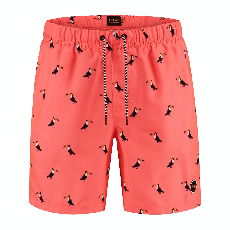 Oranje heren zwemshort met tucan print Shiwi - 4102111196-208