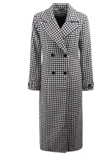 Wit/zwarte dames jas Na-kd - Houndstooth Coat