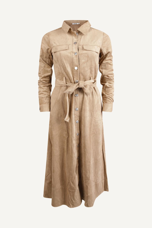 Beige dames jurk Na-kd - 1018-004590