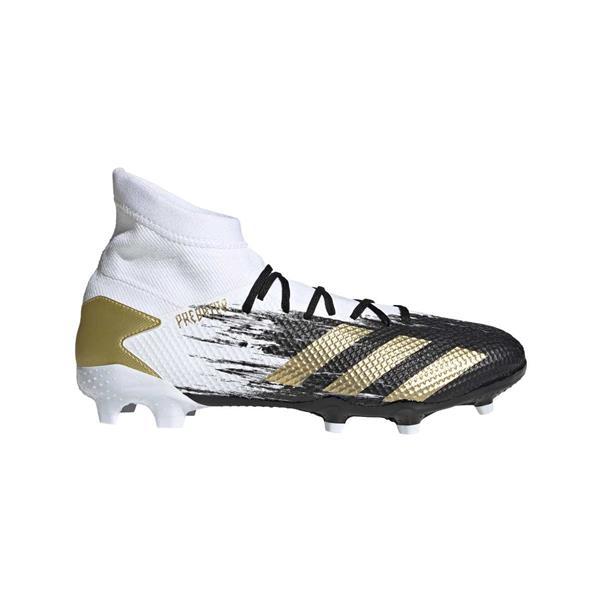 Wit/zwarte voetbalschoenen Adidas Predator 20.3 FG - FW9196 FTWWHT/GOLDMT/CB