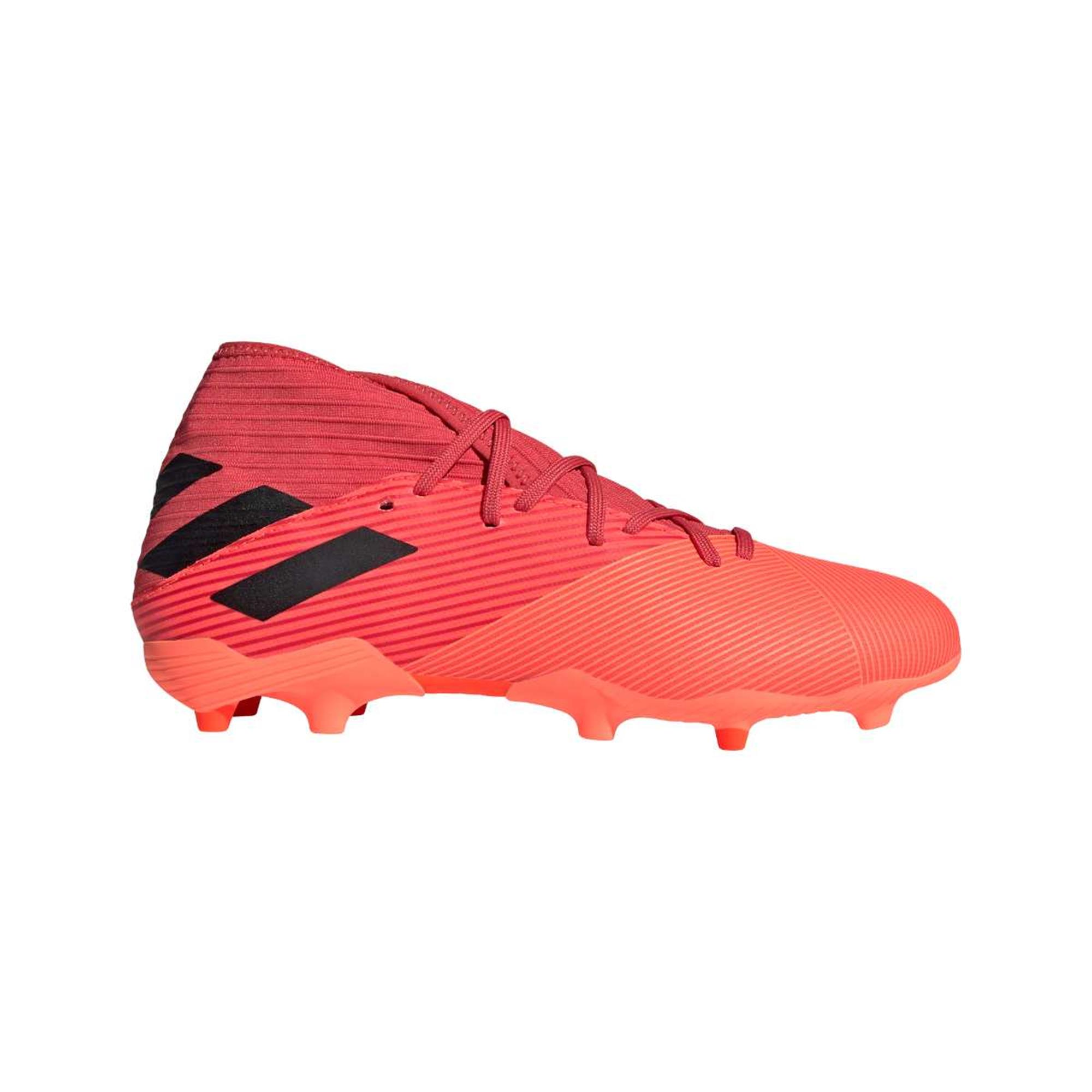 Rood/oranje voetbalschoenen Adidas Nemeziz 19.3 FG - EH0300
