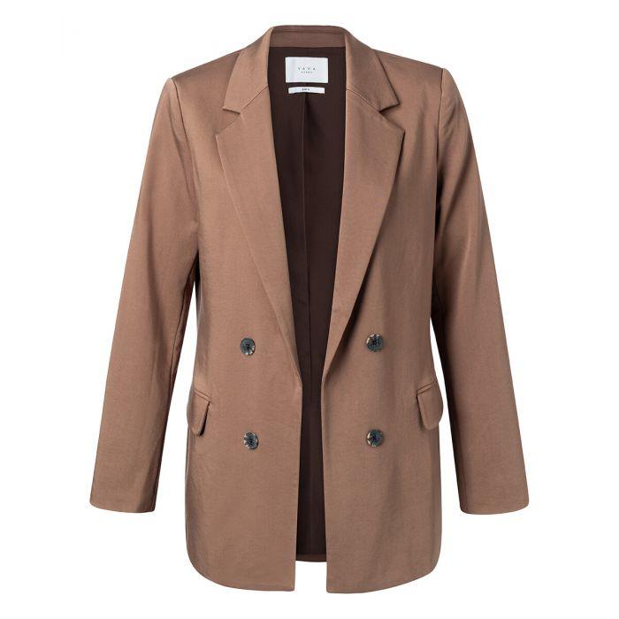 Bruine dames blazer YAYA - 150158-023