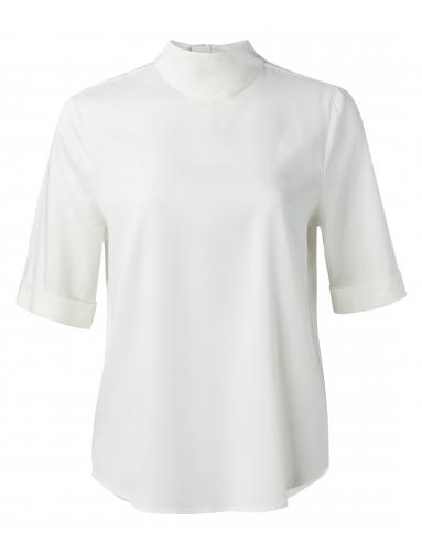 Witte dames top met col YAYA - 1901344