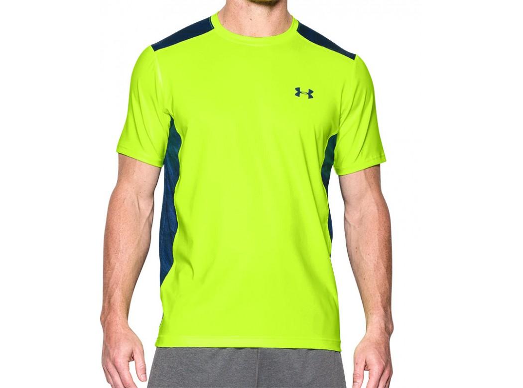 Fel geel gekleurd tshirt Under armour 1257466 366