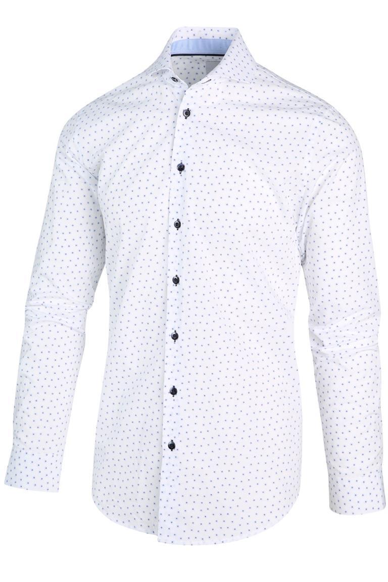 Wit heren overhemd met print Blue Industry - 2179.22