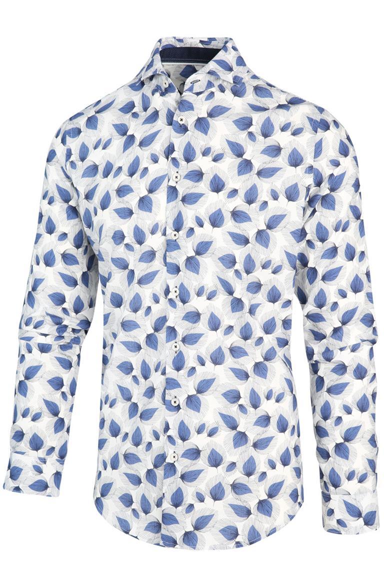 Wit heren overhemd met print Blue Industry - 2103.22 navy