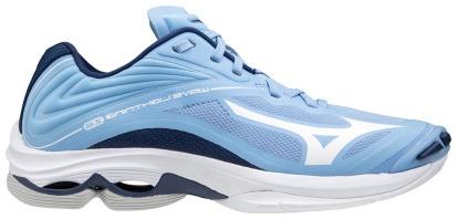 Lichtblauwe dames volleybal schoen Mizuno - Wave Lightning Z6
