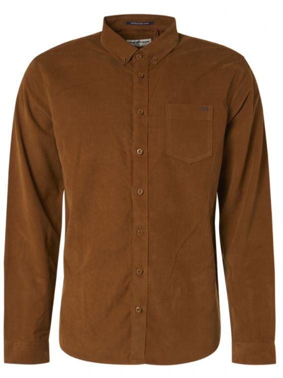Bruin heren overhemd No Excess - 97410909
