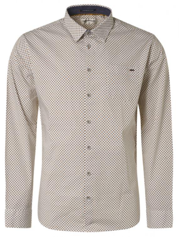 Wit heren overhemd met print No Excess - 97430918