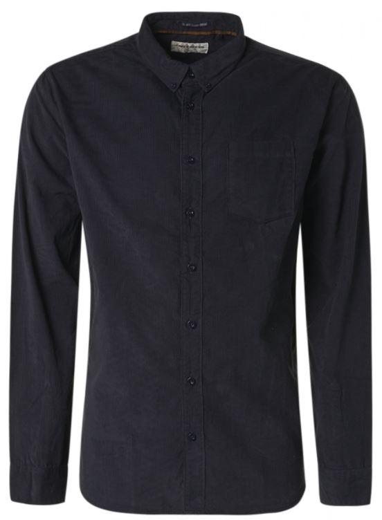 Donkerblauw heren overhemd No Excess - 97410909