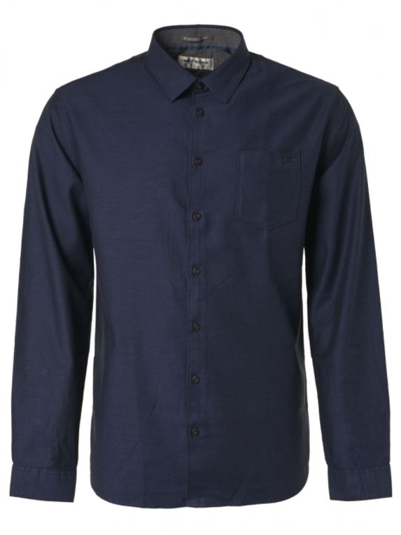 Donkerblauw heren overhemd No Excess - 97430909