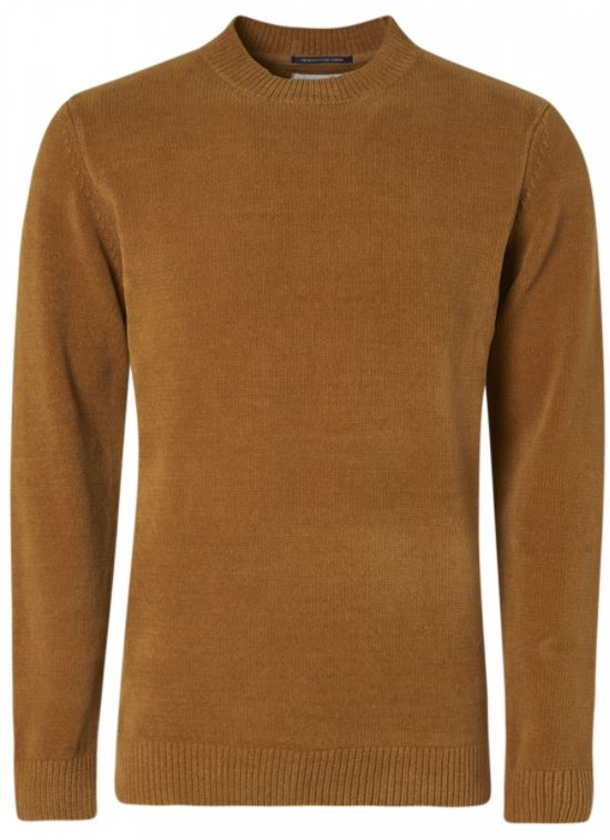 Geel/bruine heren trui No Excess - 97210923