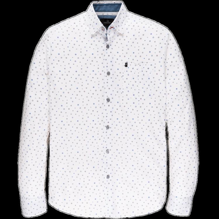 Wit heren overhemd met print Vanguard - VSI206220-7003