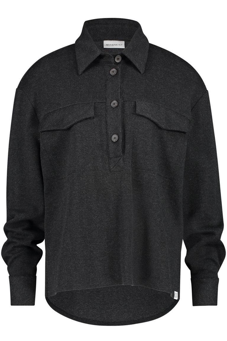 Zwarte dames blouse Penn&Ink - W20N820