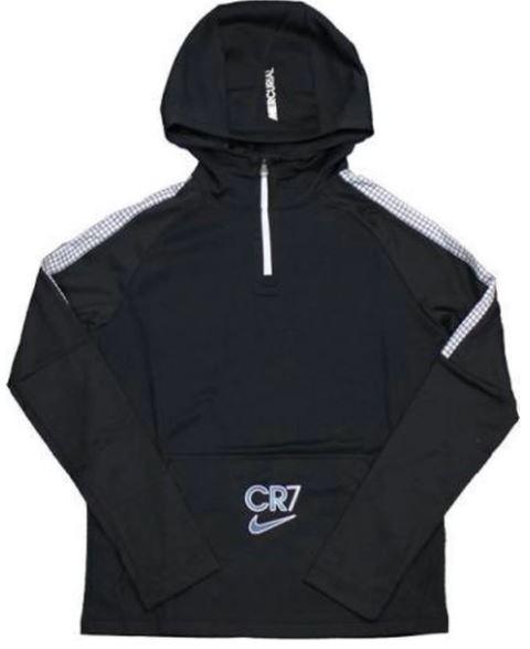 Zwart kindervest Nike Dri-Fit CR7 1/4 zip - CT2972-010