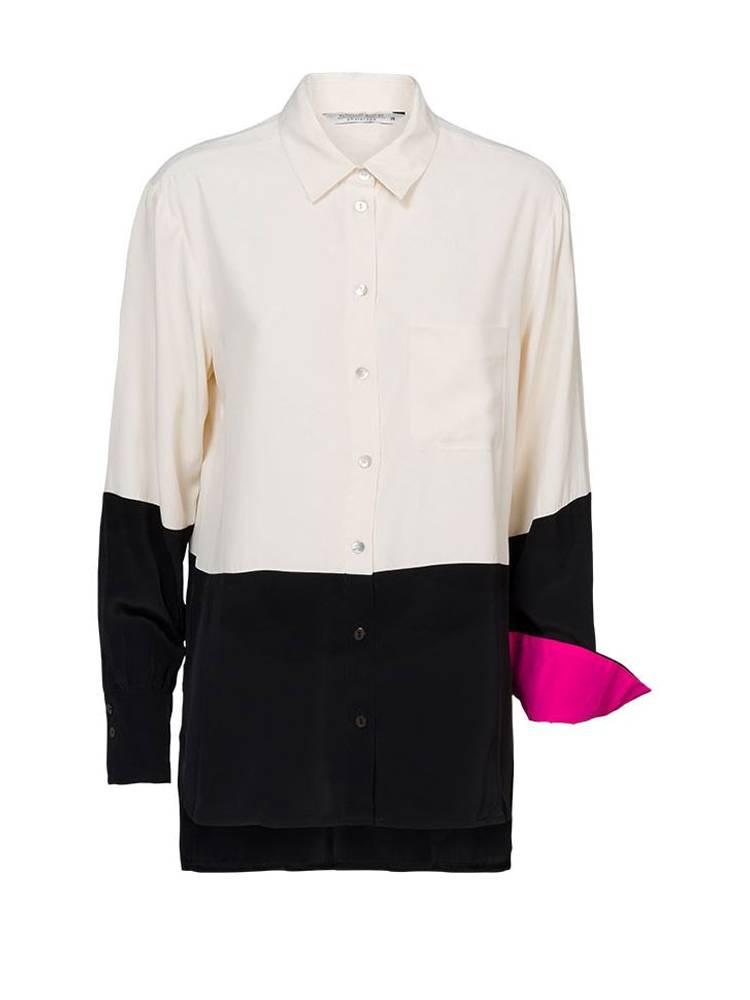 Wit/zwarte dames blouse Summum - 2S2496-120 multi