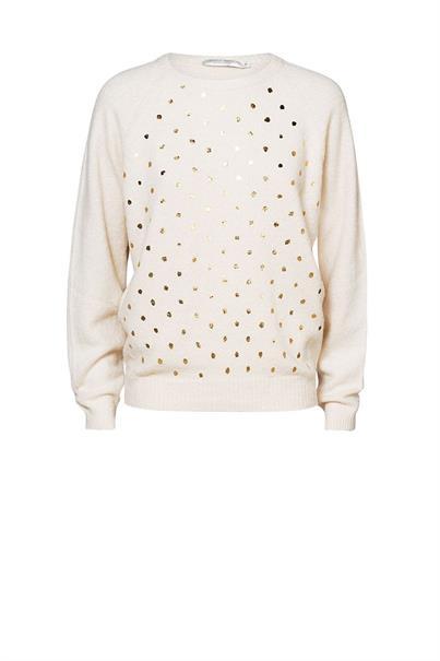 Witte dames trui met gouden polka dot Summum - 7s5455 122 ivory
