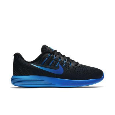 Zwart blauwe hardloopschoen Nike Lunarglide 8