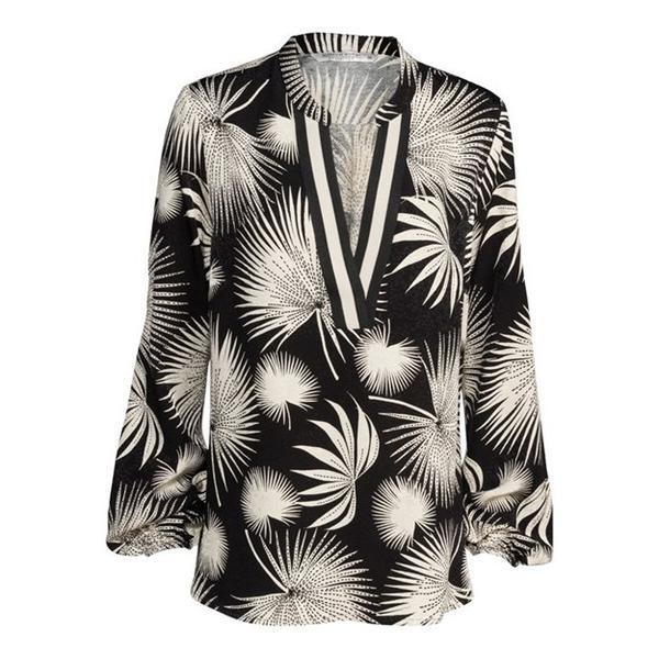 Zwart/witte dames top Summum - 2s2515 990 black