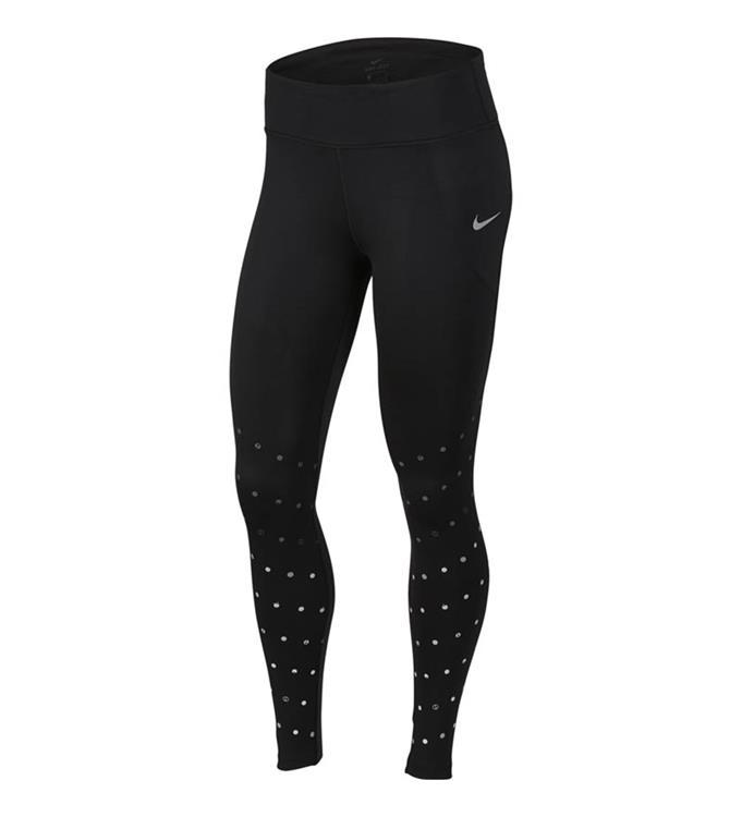 zwarte dames runningtight met print Nike CU3373-010