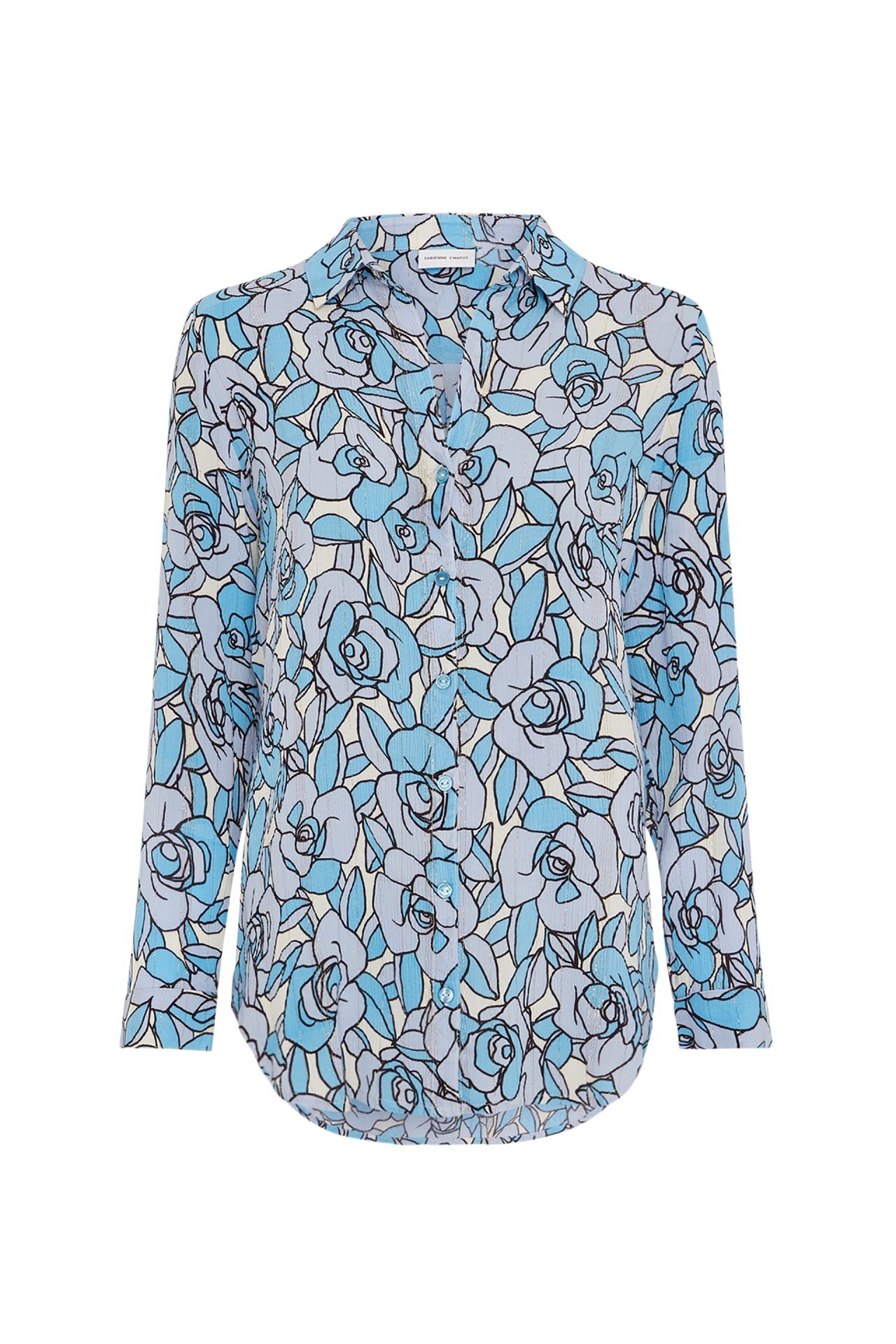 Blauwe dames blouse - Fabienne Chapot - Lily Isa blouse - lavender/ warm