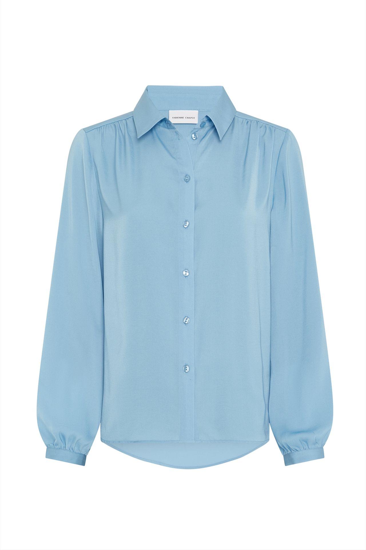 Blauwe dames blouse - Fabienne Chapot - Mira solid blouse - ice blue