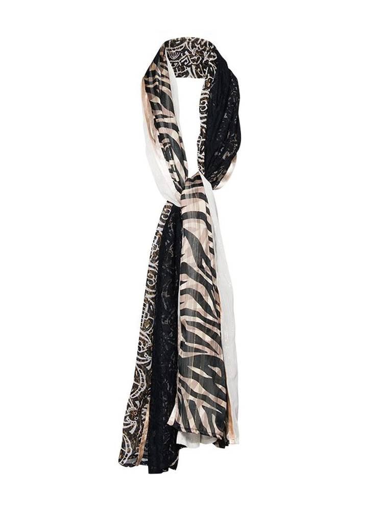 Zwart witte sjaal - Summum - 8s708-8349 - 990 black