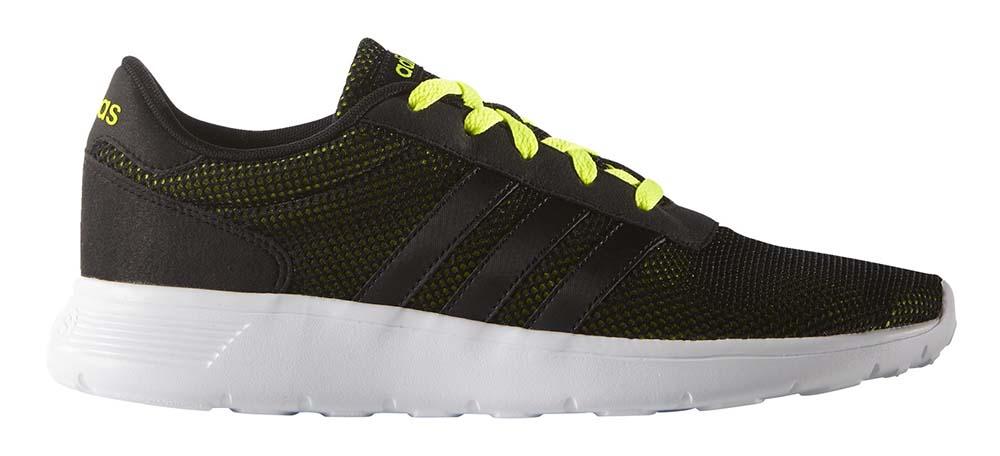 Zwarte groene heren sneakers Adidas lite racer