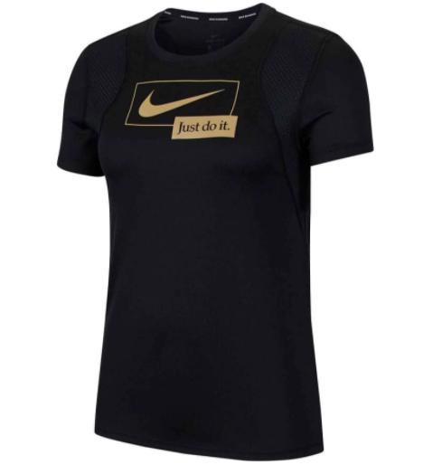 Zwart nike tshirt met goud logo Nike Icon Clash - CU3325-010