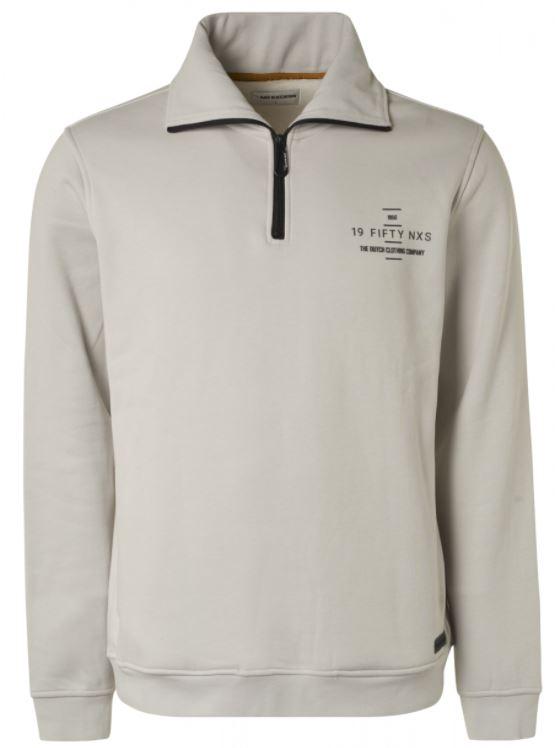 Witte heren sweater 1/2 zip No Excess - 99101115 017