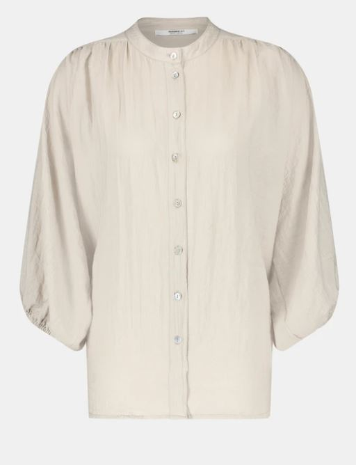Grijze dames blouse Penn&Ink - S21F863 pelican