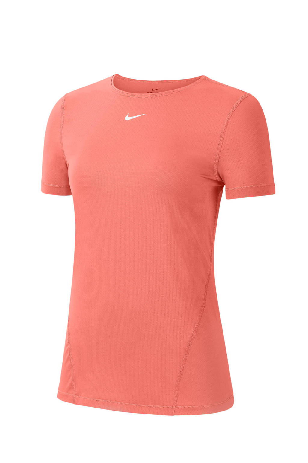 Oranje dames t-shirt Nike Pro - AO9951-854