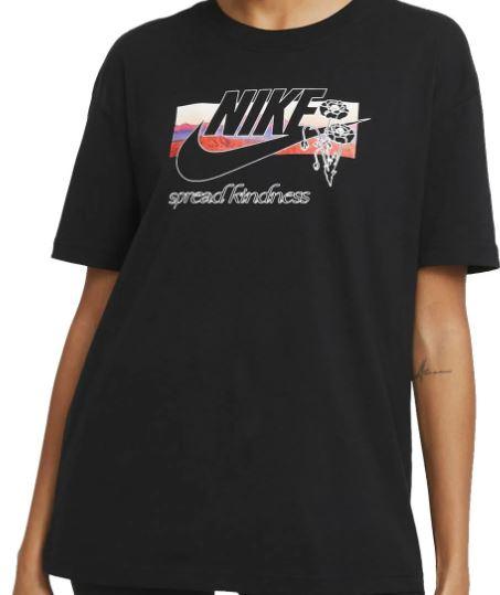Zwart dames t-shirt Nike - DB971-010