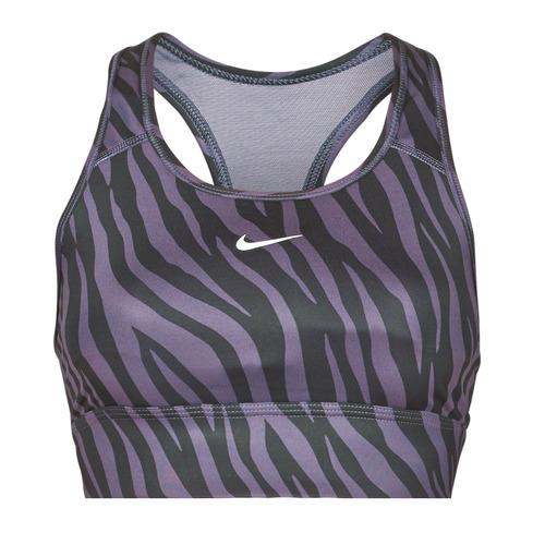 Paarse dames sportbh Nike Swoosh Icon Clash - CZ7208-573