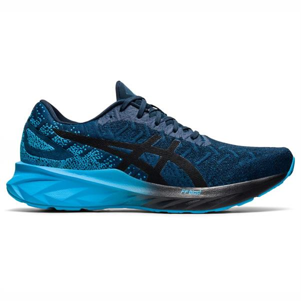Blauw/grijze heren schoenen Asics Dynablast - 1011A819-400